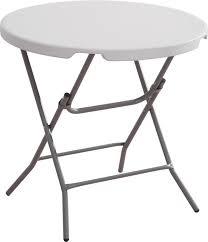 round metal folding bistro table
