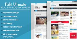 free template blogger. Palki Ultimate Blog Style Free Blogger Template