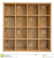square bookshelf  detailed illustration of a glossy white