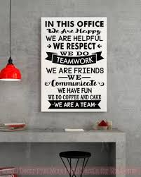 office wall decal. In This Office We Are Team Vinyl Decals Wall Stickers Art Work Decor Quotes Decal