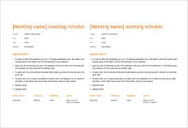 Microsoft Word Meeting Agenda Template Gorgeous 48 Microsoft Word Minute Templates Free Download Free Premium