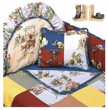 rodeo western themed crib bedding set