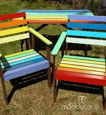 Miy Rainbow Garden Funiture With Chocolate Trim Re Vamps And Re