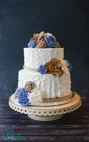 Rustic Burlap And Lace Flower Wedding Cake Tikkidocom