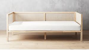 Boho Natural Daybed with Pearl White Mattress Cover + Reviews | CB2