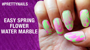How To Do Water Marble Nail Art | Spring Flowers | Pretty Nails ...