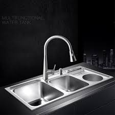 stainless steel sinks for sale.  Sale Multifunctional Kitchen Sink Stainless Steel Brushed Double Bowl Drawing  Drainer Hot And Cold Water Faucet Free Shipping Sinkin Kitchen Sinks From Home  With Steel For Sale N