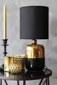 black bronze table lamp