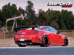 infiniti g35 2003 red. red devil apr 2003 infiniti g35 0704_impp_02z2003_infiniti_g35rear_right_view 0