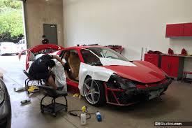 ferrari 458 spider car wrap red to white ki studios