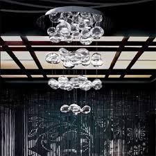 80cm height murano due bubble glass chandelier pendant lamp suspension light