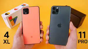 Google Pixel 4 vs iPhone 11 Pro Speed Test & Camera Comparison! - YouTube