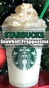 starbucks drinks secret menu. Modren Starbucks Snowball Frappuccino  Starbucks Secret Menu And Drinks R