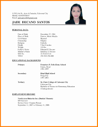 Example Of Resume Format Of Resume For Applying Job Krida 22