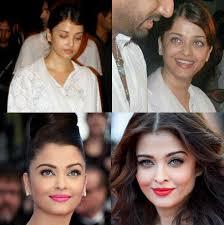 aishwarya rai without makeup vs with makeup