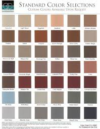 Qccolorchart 000 Sealant Depot Inc Stamped Concrete Color