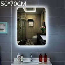 led lighted bathroom mirror wall