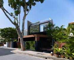 wall garden at sloping roof terrace design inspiration at maximum garden  house in singapore