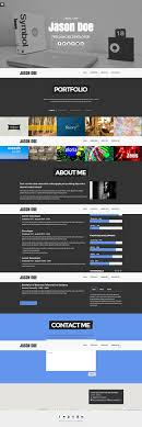 50 Free One Page Responsive Html Resume Template Wwwauto Albuminfo