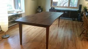 solid walnut prairie liveedge table with straight a