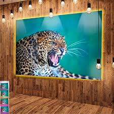 design art mt12232 48 40 led wild leopard closeup view metal wall art on leopard metal wall art with amazon design art mt12232 48 40 led wild leopard closeup view