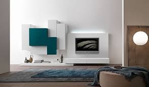 Wall Units, Marvellous Living Room Wall Units Indian Wall Unit Designs  Modern Blue White Color