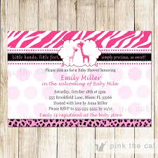 Zebra Hot Pink Ultrasound Baby Shower InvitationPink Zebra Baby Shower Invitations