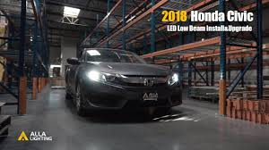 2015 Honda Civic Led Interior Lights How To Install 2016 2019 Honda Civic H11 Low Beam Led
