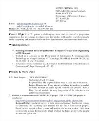 College Resume Format Amazing Resume Format For Lecturer In Computer Science Letsdeliverco