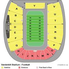 Vanderbilt Football Stadium Virtual Seating Chart 71 Thorough Vanderbilt Stadium Seat Chart