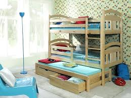 bunk bed with trundle and drawers bunk beds with trundle and mattresses wooden triple bunk bed