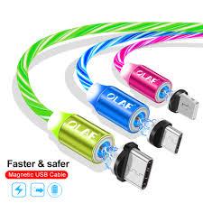 <b>OLAF LED</b> Light Magnetic USB Cable Fast Charging Micro USB ...