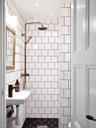Grouting wall tile Subway Tile How To Pull Off This Easytoclean Affordable Trend Square White Tiles Dark Grout Diy Projects Ideas Crafts Pinterest Bathroom White Bathroom Pinterest How To Pull Off This Easytoclean Affordable Trend Square White