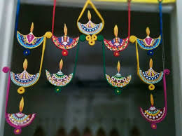 artificial hanging diyas for diwali decoration photo image diwali wall decoration ideas