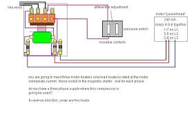 3 phase compressor wiring with pressure switch and movable contacts How Air Compressor Works Diagram 3 phase compressor wiring with pressure switch and movable contacts