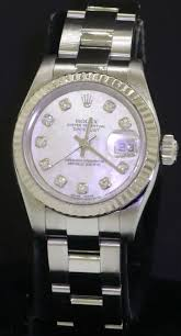 Rolex Crystal Chart Details About Rolex Datejust 179174 Ss Mop Diamond Dial Automatic Ladies Watch W 18k Wg Bezel