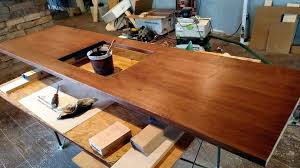 staining maple counter top how to finish wood countertops waterproof build