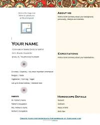 Marriage Format Download Biodata Template Free Sample For