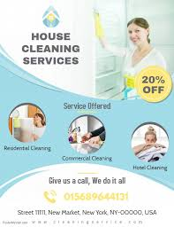 House Cleaning Services Flyers Professional House Cleaning Service Flyer Template House