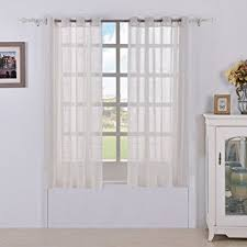 sheer white bedroom curtains. Best Dreamcity Faux Linen Sheer Curtains For Bedroom, Window Treatment Drapes, Grommet Top, White Bedroom