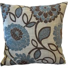 better homes and gardens blue floral decorative pillow  walmartcom