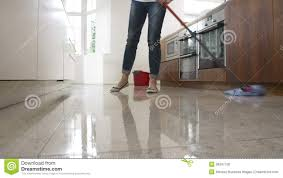 Mop Kitchen Floor Time Lapse Sequence Of Woman Mopping Kitchen Floor Stock Video