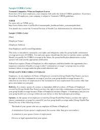 Sample Cobra Termination Letter Cobra Letter Template Letter Bestkitchenview Co