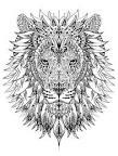 Раскраски про львов