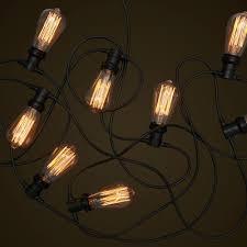 commercial festoon lighting teardrop edison light globes