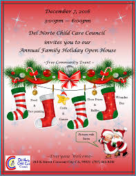 christmas open house flyer annual family holiday open house del norte child care council