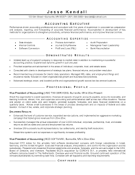 Resume For Accounting Resume Templates
