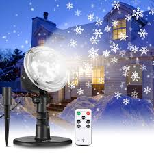 Snowfall Lights Amazon Nacatin Snowfall Lights Projector 2 In 1 Snowfall With Moving Patterns Remote Control Waterproof For Outdoor Indoor