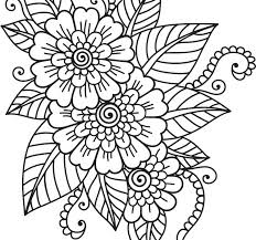 Coloring Pages Of Flowers For Adults Adult Coloring Pages Flowers
