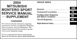 2004 mitsubishi montero sport wiring diagram manual original mitsubishi wiring diagram 2004 mitsubishi montero sport wiring diagram manual original � table of contents
